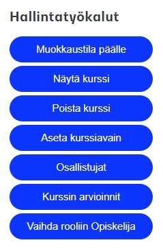 kuva Moodlen hallintatyökaluista