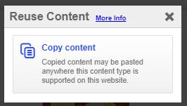 Paina Copy Content painiketta