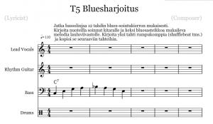 noteflight kuva bluesharjoitus